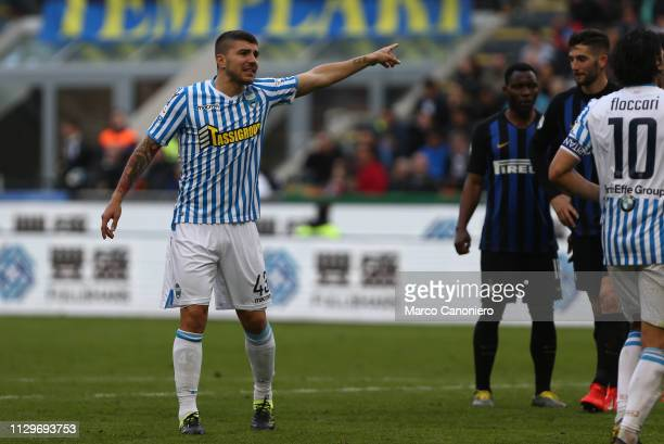 Alberto Paloschi of Spal gestures during the Serie A match between FC Internazionale and Spal. Internazionale Fc wins 2-0 over Spal.
