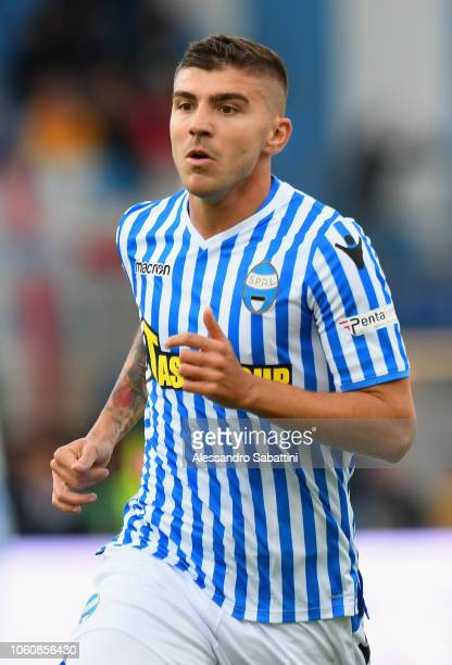 Alberto Paloschi of Spal looks on during the Serie A match between SPAL and Frosinone Calcio at Stadio Paolo Mazza on October 28, 2018 in Ferrara,...