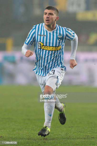 Alberto Paloschi of Spal looks on during the Serie A match between Atalanta BC and SPAL at Stadio Atleti Azzurri d'Italia on February 10, 2019 in...