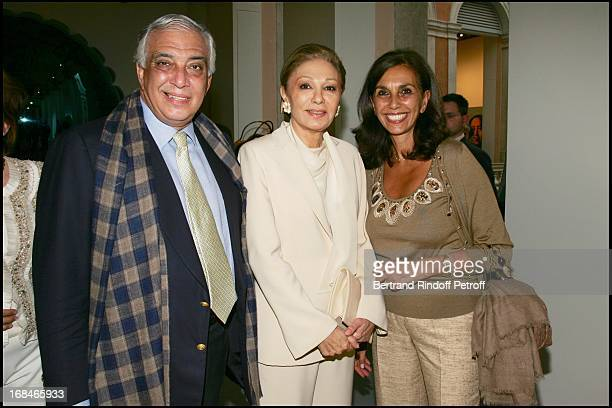 Alberto Pinto his sister Linda and Farah Diba at Private Viewing Of The Exhibition Where Are We Going In Venice