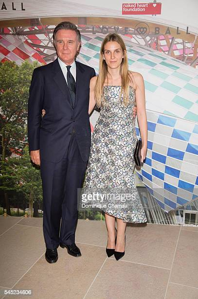 Alberto Repossi and Gaia Repossi attends the 'The Art of Giving' Love Ball Naked Heart foundation Photo Call as part of Paris Fashion Week on July 6...
