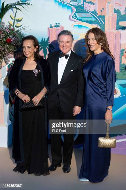 Alberto Repossi and his wife Giovanna Repossi attend the Rose Ball 2019 to benefit the Princess Grace Foundation on March 30 2019 in Monaco Monaco