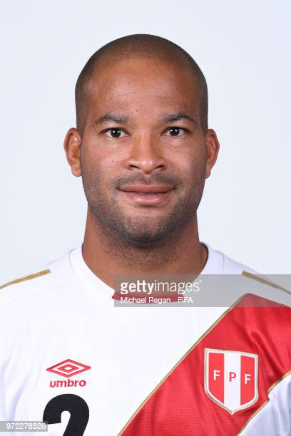 Alberto Rodriguez of Peru poses for a portrait during the official FIFA World Cup 2018 portrait session at the Team Hotel on June 11 2018 in Moscow...