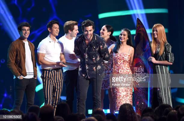 Alberto Rosende Harry Shum Jr Dominic Sherwood Matthew Daddario Anna Hopkins Emeraude Toubia and Katherine McNamara accept the accept the Choice...