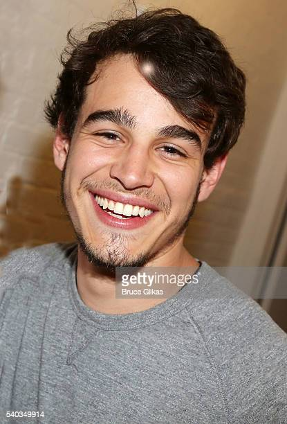 Alberto Rosende poses backstage at the hit comedy 'Fully Committed' on Broadway at The Lyceum Theatre on June 14 2016 in New York City