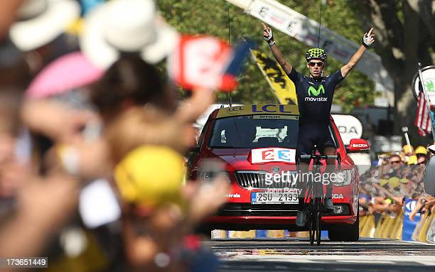 Alberto Rui Costa of Portugal and Movistar Team wins stage sixteen of the 2013 Tour de France, a 168KM road stage from Vaison-la-Romaine to Gap on...