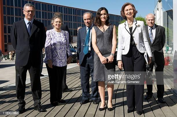Alberto Ruiz Gallardon Princess Irene of Greece Angeles Gonzalez Sinde and Queen Sofia of Spain attend 'San Francisco de Asis' Opera Theatre at...