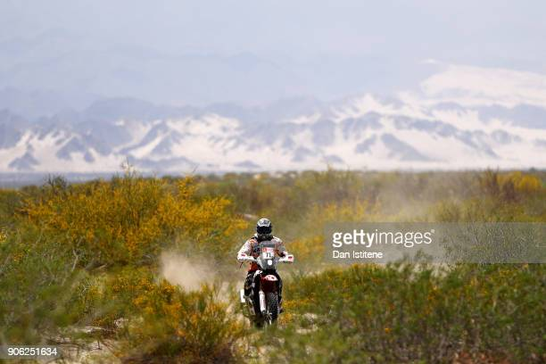 Alberto Santiago Ontiveros of Argentina and San Juan rides a Honda CRF 450 bike in the Classe 21 Super Production during stage eleven of the 2018...
