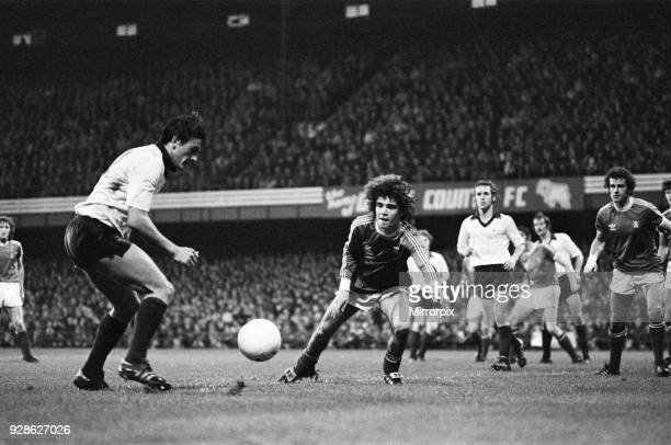Alberto Tarantini Birmingham City football player in action at the Baseball ground November 1978 Final score Derby County 21 Birmingham City