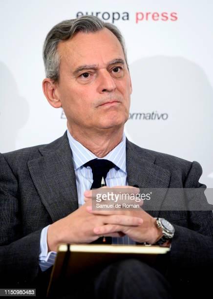 Alberto Terol director of Indra atttends 'El Reto De La Gobernanza Y Etica En La Estrategia Empresarial' informative meeting on May 22 2019 in Madrid...