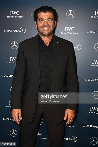 Alberto Tomba attends during the Laureus Charity F1 Night at the MercedesBenz Spa on September 4 2014 in Milan Italy