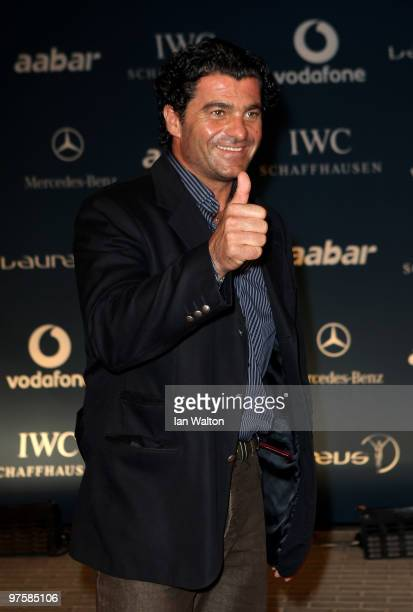 Alberto Tomba attends the Laureus Welcome Party part of the Laureus Sports Awards 2010 at the Fairmount Hotel on March 92010 in Abu DhabiUnited Arab...
