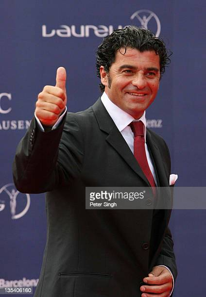 Alberto Tomba during 2006 Laureus World Sports Awards Red Carpet Arrivals in Barcelona Spain