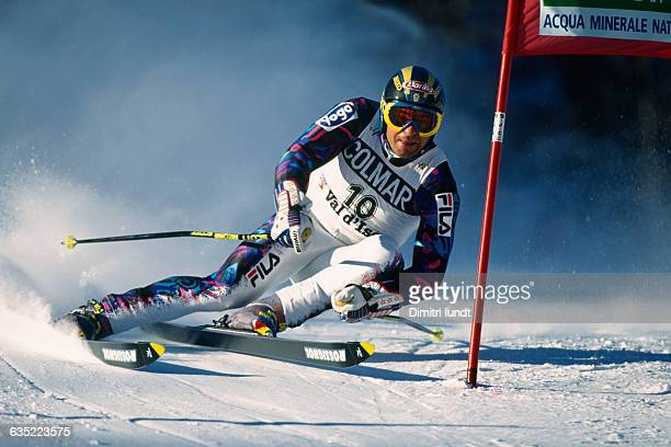Alberto Tomba in action during the Giant Slalom of the 1994 World Cup