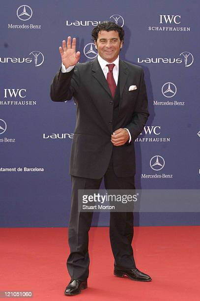 Alberto Tomba Skiing legend during 2006 Laureus World Sports Awards Red Carpet Arrivals at Museu Nacional d'Art de Catalunya in Barcelona Spain