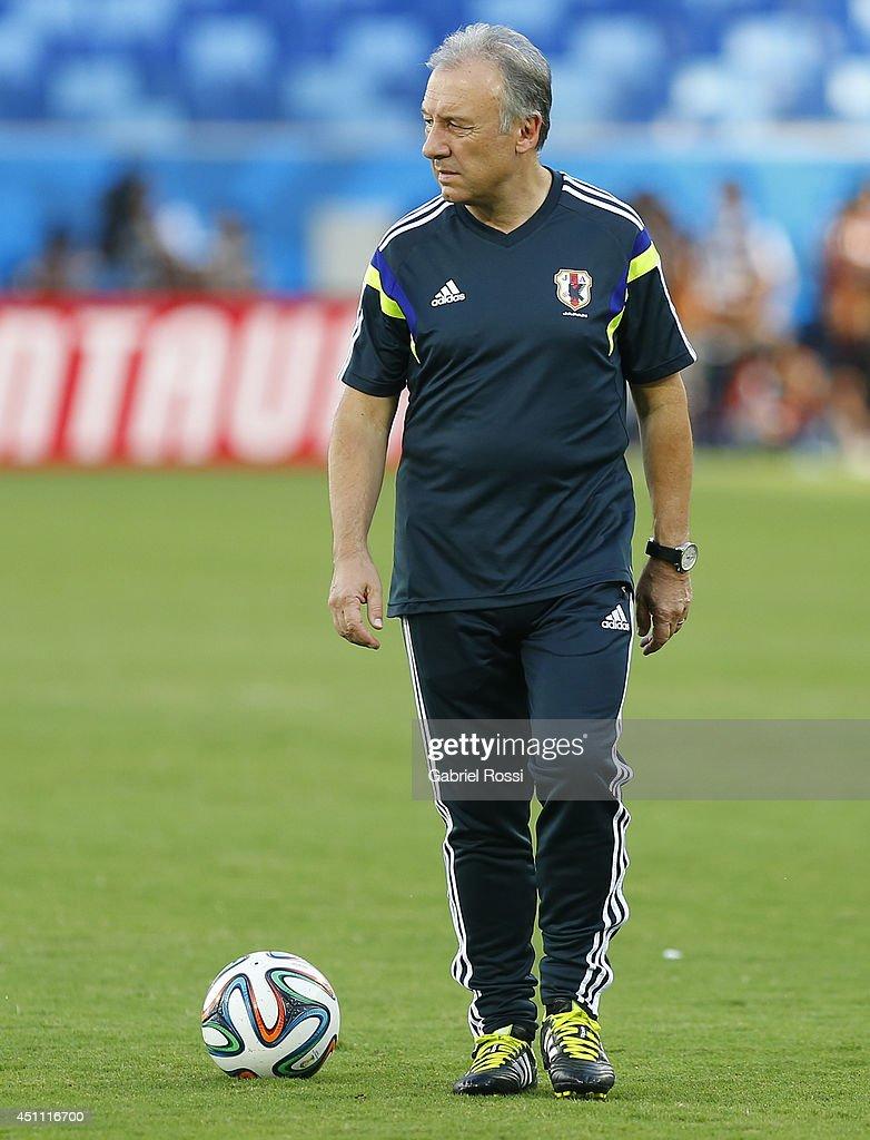 Japan Training Session & Press Conference - 2014 FIFA World Cup Brazil  : ニュース写真