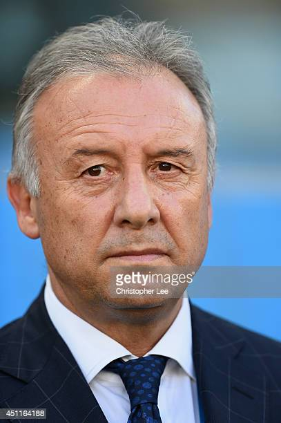 Alberto Zaccheroni of Japan looks on during the 2014 FIFA World Cup Brazil Group C match between Japan and Colombia at Arena Pantanal on June 24 2014...