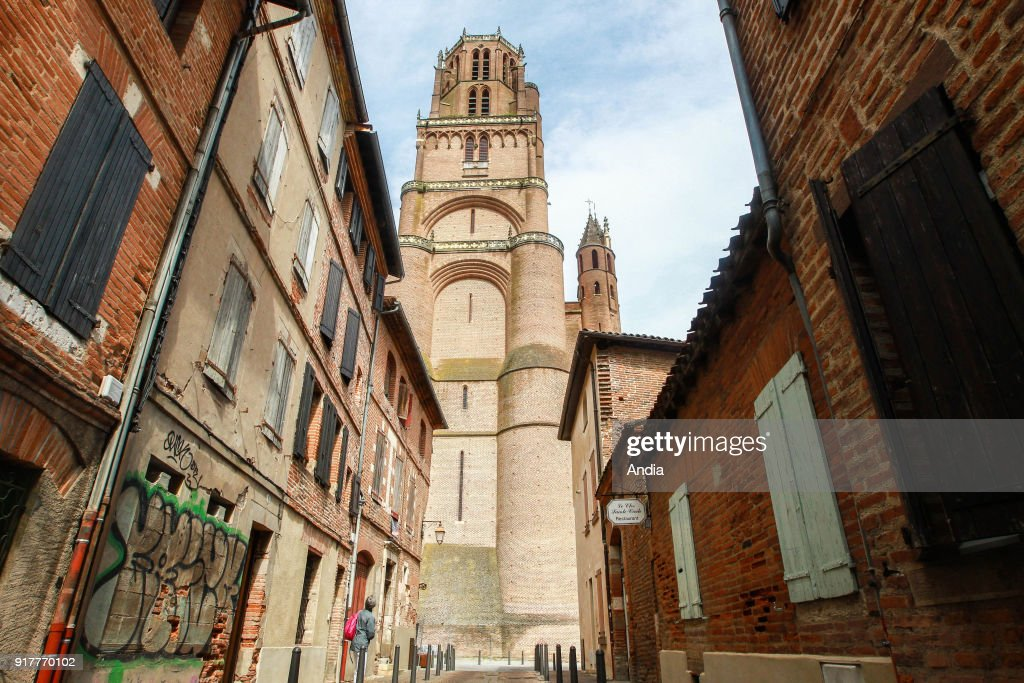 Albi Cathedral ('Cathedrale Sainte-Cecile'), classified as a National Historic Landmark (French 'Monument Historique').