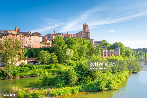 albi in a summer sunny day,france - toulouse stock pictures, royalty-free photos & images