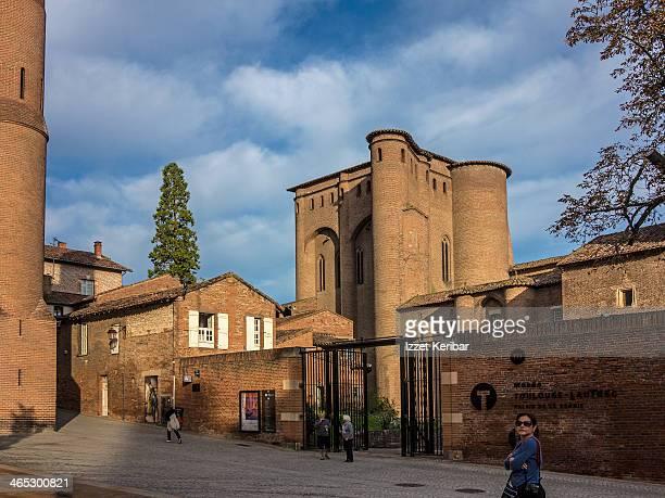 Albi massive walls of the Toulouse Lautrec Museum