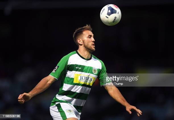 Albi Skendi of Yeovil Town during the Vanarama National League match between Yeovil Town and Eastleigh FC at Huish Park on August 06, 2019 in Yeovil,...