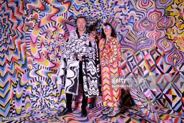 Albie Hueston and Piera Gelardi attend the Refinery29 Third Annual 29Rooms Turn It Into Art Press Preview on September 7 2017 in the Brooklyn borough...