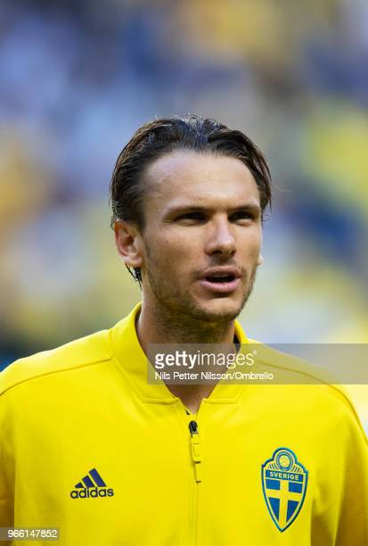 Albin Ekdal of Sweden ahead of the International Friendly match between Sweden and Denmark at Friends Arena on June 2 2018 in Solna Sweden