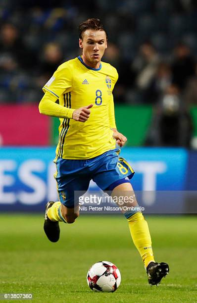 Albin Ekdal of Sweden during the FIFA 2018 World Cup Qualifier between Sweden and Bulgaria at Friends Arena on October 10 2016 in Solna Sweden