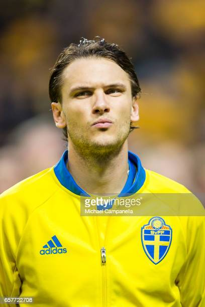Albin Ekdal of Sweden during the FIFA 2018 World Cup Qualifier between Sweden and Belarus at Friends arena on March 25 2017 in Solna Sweden