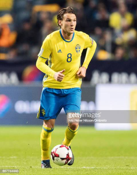 Albin Ekdal of Sweden during the FIFA 2018 World Cup Qualifier between Sweden and Belarus at Friends arena on March 25 2017 in Solna
