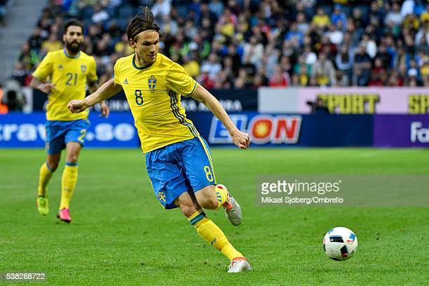 Albin Ekdal of Sweden during the international friendly between Sweden and Wales at Friends Arena on June 5 2016 in Solna Sweden