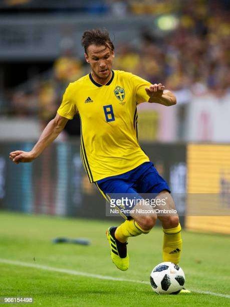 Albin Ekdal of Sweden during the International Friendly match between Sweden and Denmark at Friends Arena on June 2 2018 in Solna Sweden