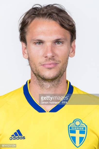 Albin Ekdal of Sweden poses during the official FIFA World Cup 2018 portrait session on June 13 2018 in Gelendzhik Russia
