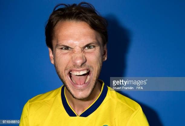 Albin Ekdal of Sweden poses for a photograph during the official FIFA World Cup 2018 portrait session at on June 13 2018 in Gelendzhik Russia