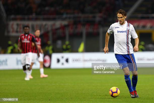 Albin Ekdal of Uc Sampdoria in action during the Serie A football match between AC Milan and Uc Sampdoria Ac Milan wins 32 over Uc Sampdoria