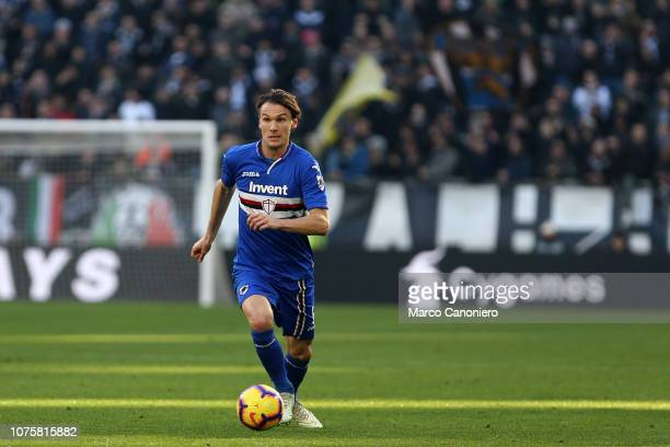Albin Ekdal of Uc Sampdoria in action during the Serie A football match between Juventus Fc and Uc Sampdoria Juventus Fc wins 21 over Uc Sampdoria
