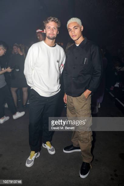 Albin Johansson and Brian Whittaker attend the Axel Arigato launch at Village Underground on September 6 2018 in London England