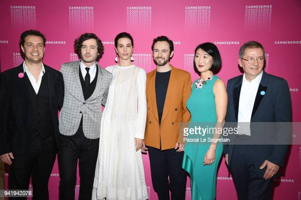 Albin LewiAlexander Vlahos Elisa LasowskiGeorge Blagden Fleur Pellerin and Benoit Louvet attend the Opening Ceremony and 'Versailles Season 3'...