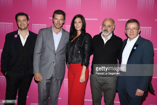 Albin LewiFranck Semonin Helene Semonin a guests and Benoit Louvet attend the Opening Ceremony and Versailles Season 3 screening during the 1st...