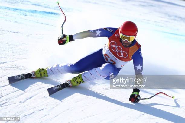 Albin Tahiri of Kosovo competes qduring the Men's SuperG on day seven of the PyeongChang 2018 Winter Olympic Games at Jeongseon Alpine Centre on...