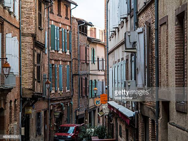 Albi,old houses  near the Cathedral