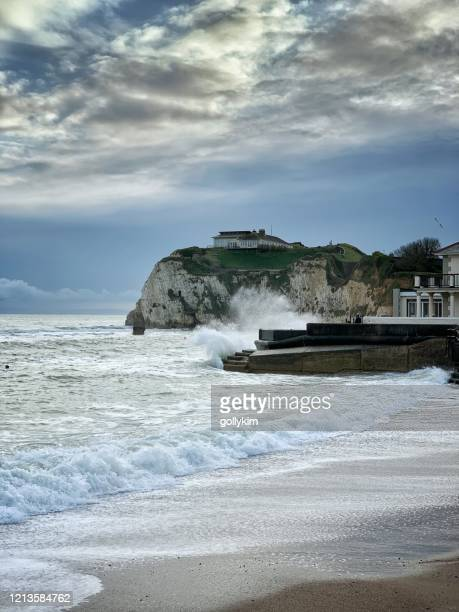 albion hotel, freshwater bay, isle of wight - freshwater bay isle of wight stock pictures, royalty-free photos & images