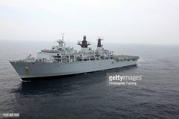 Albion takes part in Exercise Auriga on July 14 2010 near Camp Lejeune North Carolina HMS Ark Royal the nation's strike carrier is leading an...
