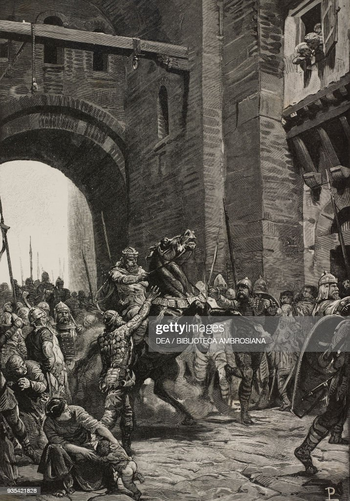 the best attitude 60943 dcc8d Alboino entering the city of Pavia on horseback in 572 ...