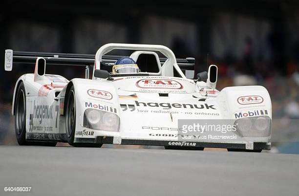 Alboreto in 24 Hour Le Mans Race