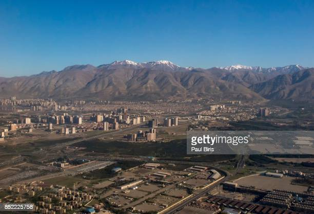 Alborz Mountain range seen from Tehran, Iran