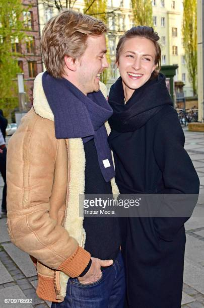 Albrecht Abraham Schuch and Natalia Belitski attend the family and friends screening of the film 'Einsamkeit und Sex und Mitleid' on April 20 2017 in...