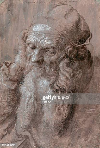 Albrecht Dürer Head of an Old Man ink and wash on paper Albertina Vienna Austria