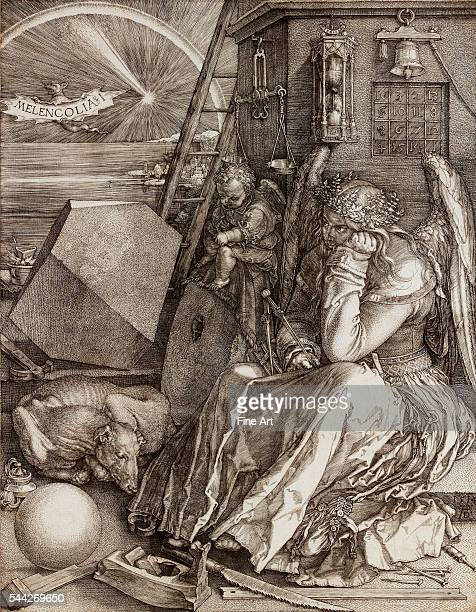 Albrecht Dürer Melencolia I engraving 238 x 185 cm private collection