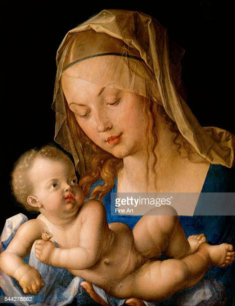Albrecht Dürer Virgin and child with a Pear oil on panel 49 x 37 cm Kunsthistorisches Museum Vienna